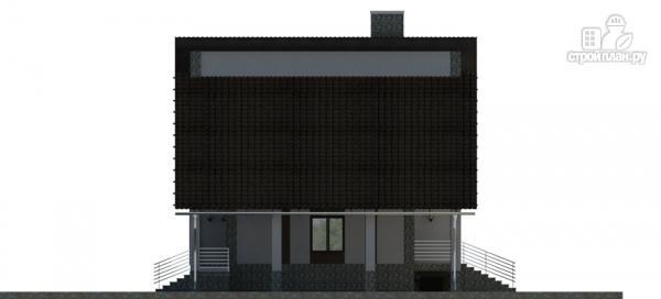 Фото 6: проект трехэтажный дом с сауной, гаражом и навесом для машины