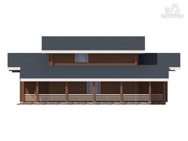 Фото 5: проект дом из клееного бруса с террасой и вторым светом