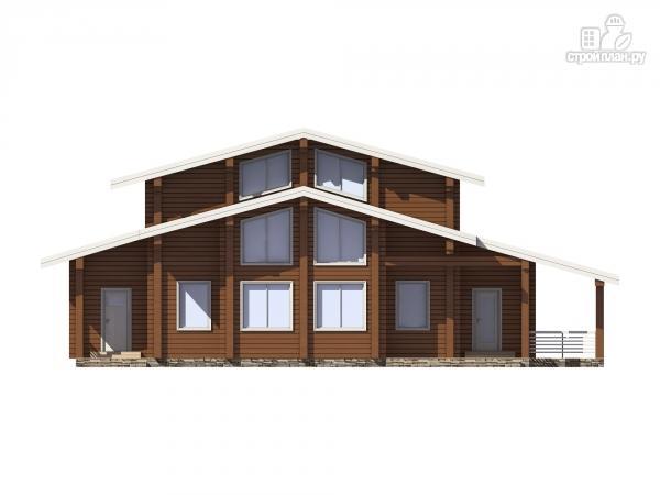 Фото 4: проект дом из клееного бруса с террасой и вторым светом