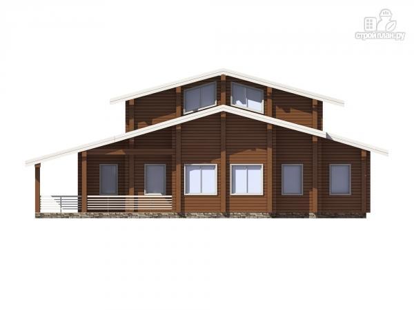 Фото 6: проект дом из клееного бруса с террасой и вторым светом