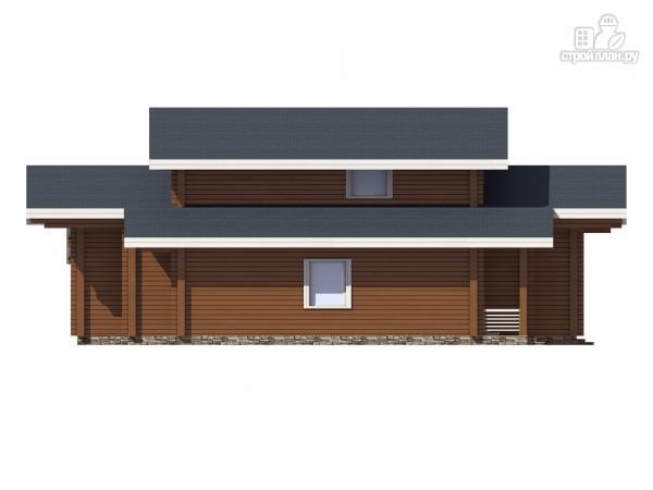 Фото 7: проект дом из клееного бруса с террасой и вторым светом