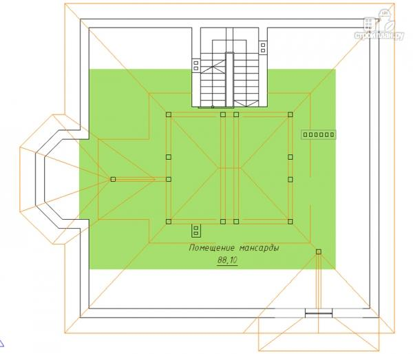 Фото 4: проект двухэтажный дом с сауной хамам, террасой и вторым светом