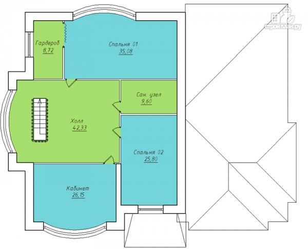 Фото 3: проект дом с гаражом, террасой и большой светлой гостиной