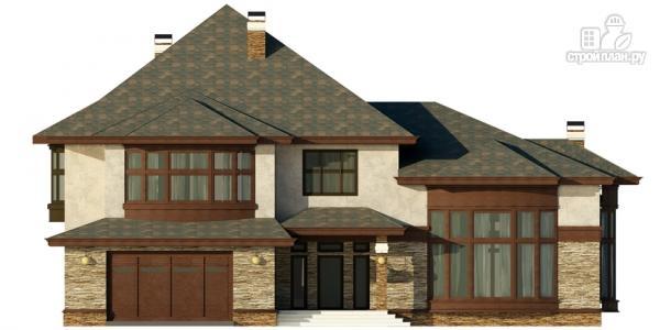 Фото 7: проект дом с гаражом, террасой и большой светлой гостиной