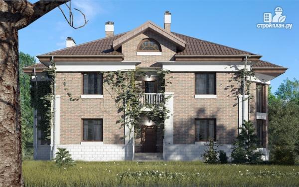 Фото 7: проект двухэтажный дом с двухсветной гостиной и эксплуатируемым чердаком