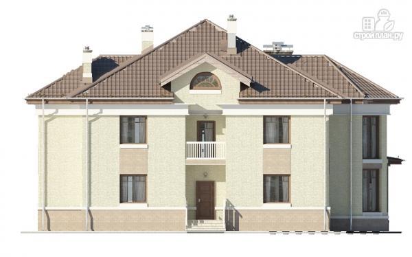 Фото 10: проект двухэтажный дом с двухсветной гостиной и эксплуатируемым чердаком