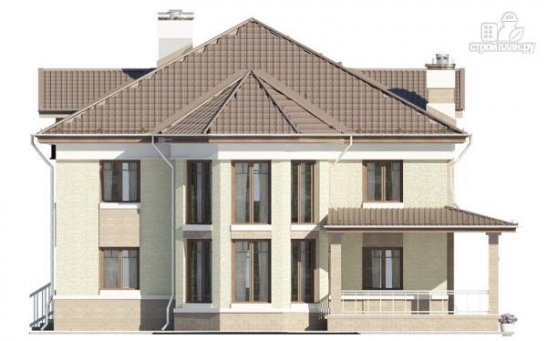 Фото 6: проект двухэтажный дом с двухсветной гостиной и эксплуатируемым чердаком