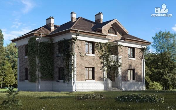 Фото: проект двухэтажный дом с двухсветной гостиной и эксплуатируемым чердаком