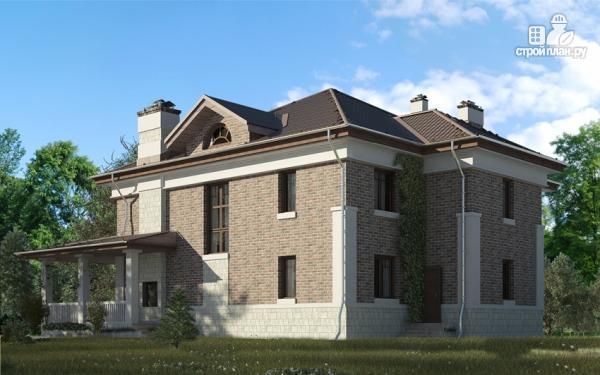Фото 11: проект двухэтажный дом с двухсветной гостиной и эксплуатируемым чердаком