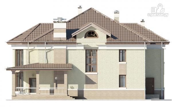 Фото 8: проект двухэтажный дом с двухсветной гостиной и эксплуатируемым чердаком