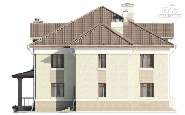 Фото 5: проект двухэтажный дом с двухсветной гостиной и эксплуатируемым чердаком