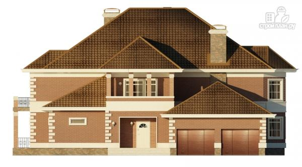 Фото 7: проект двухэтажный дом с  террасой, балконом и сауной