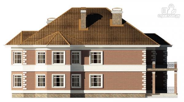 Фото 6: проект двухэтажный дом с  террасой, балконом и сауной