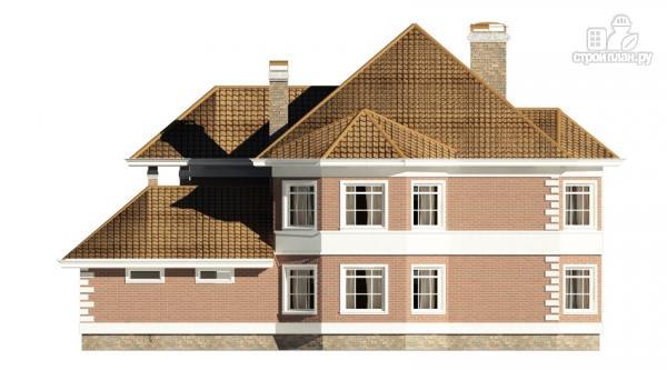 Фото 5: проект двухэтажный дом с  террасой, балконом и сауной