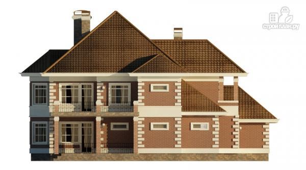 Фото 4: проект двухэтажный дом с  террасой, балконом и сауной