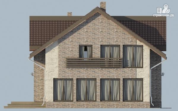 Фото 5: проект спаренный дом с балконами и террасами