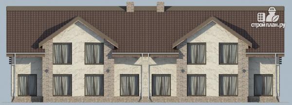 Фото 6: проект спаренный дом с балконами и террасами