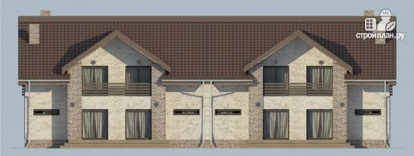 Фото 7: проект спаренный дом с балконами и террасами