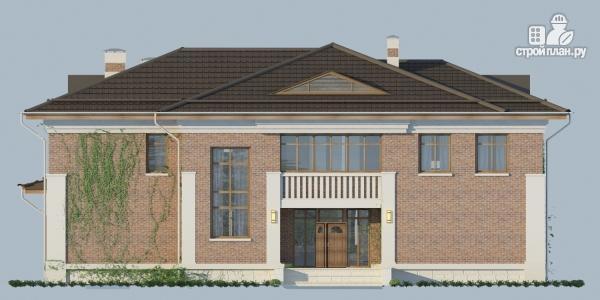 Фото 4: проект двухэтажный дом из газобетона с террасой и зимним садом