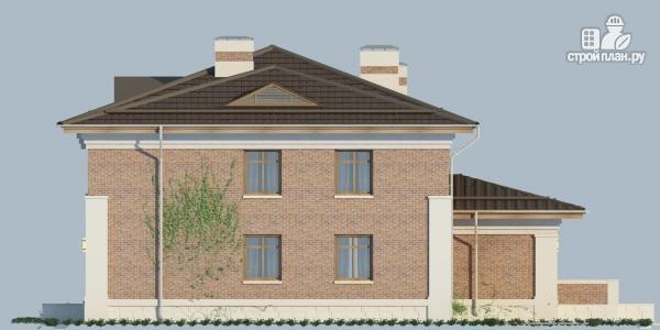 Фото 7: проект двухэтажный дом из газобетона с террасой и зимним садом