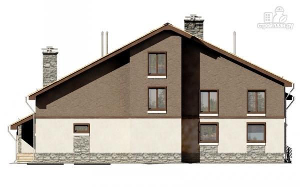 Фото 9: проект загородное имение с террасой, балконом, сауной и гаражом на две машины