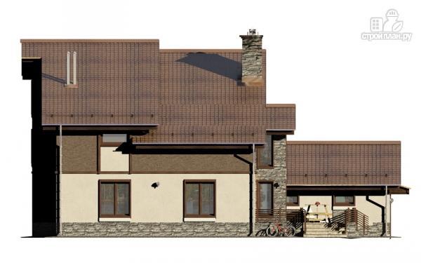 Фото 5: проект загородное имение с террасой, балконом, сауной и гаражом на две машины