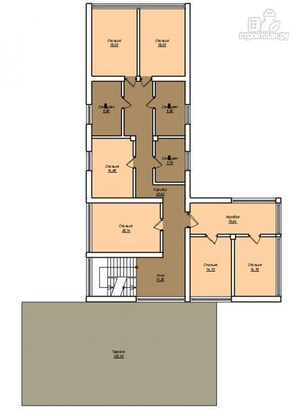 Фото 3: проект дом с плоской эксплуатируемой крышей, террасой и гаражом