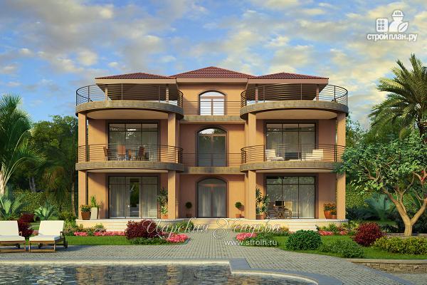 Фото: проект дом с террасами для Крыма