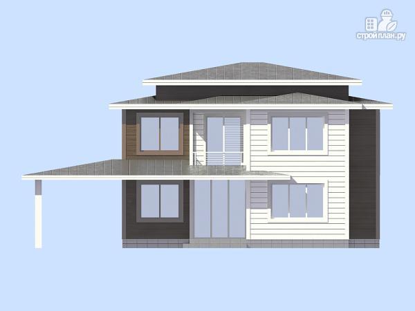 Фото 2: проект загородный дом с навесом для а/м