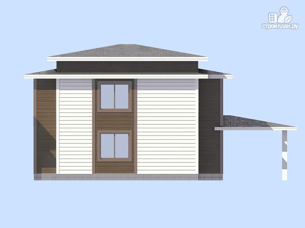 Фото 4: проект загородный дом с навесом для а/м
