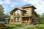 Проект загородный деревянный дом