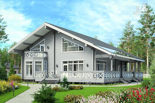 Фото: проект каркасный дом с имитацией бруса