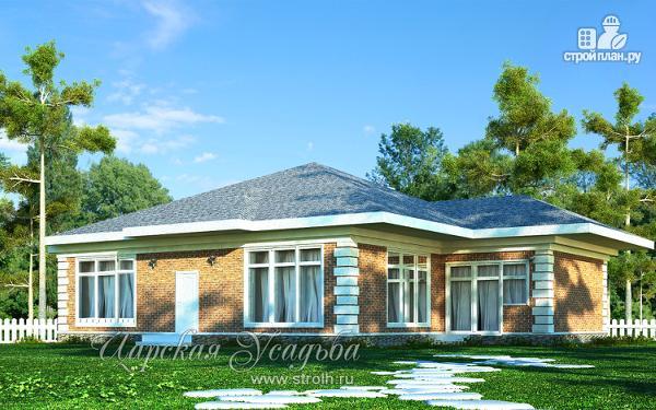 Фото: проект одноэтажный гостевой домик