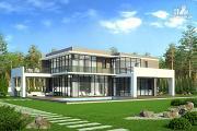 Проект современный дом с плоской кровлей