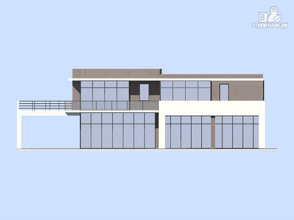 Фото 4: проект современный дом с плоской кровлей