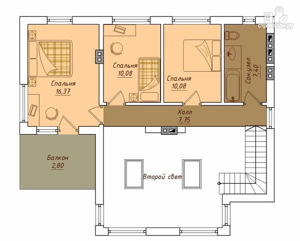 Фото 3: проект удобный дом с мансардой и вторым светом