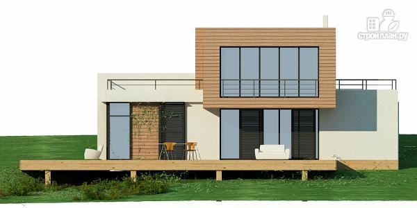 Фото 4: проект дом для небольшого склона