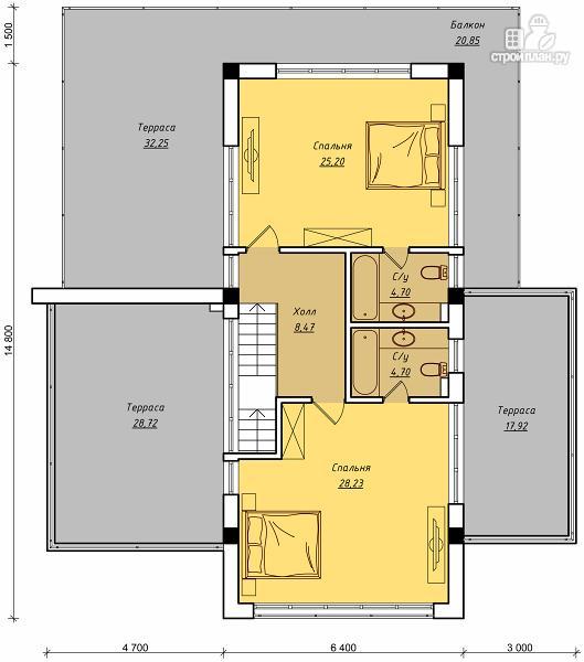 Фото 3: проект дом для небольшого склона