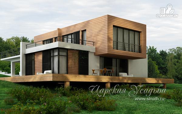 Фото: проект дом для небольшого склона