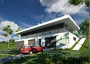 Проект оригинальный дом на склоне