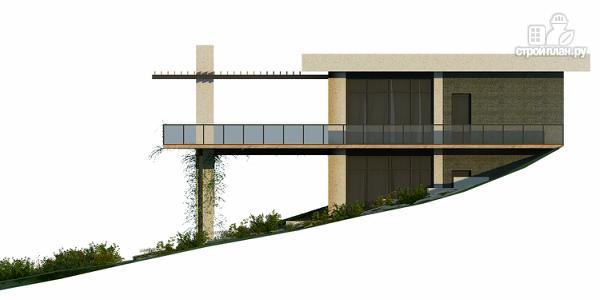 Фото 5: проект дом на склоне с большой террасой