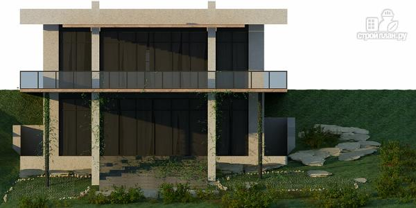 Фото 7: проект дом на склоне с большой террасой