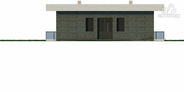 Фото 6: проект дом на склоне с большой террасой