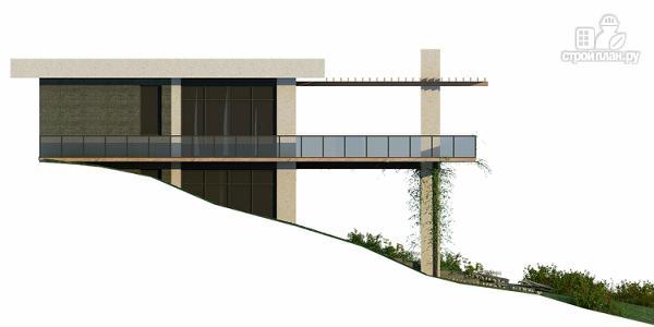 Фото 4: проект дом на склоне с большой террасой