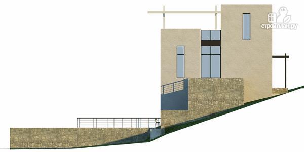 Фото 7: проект дом на склоне с двумя большими терассами