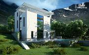 Проект дом на склоне с двумя большими терассами