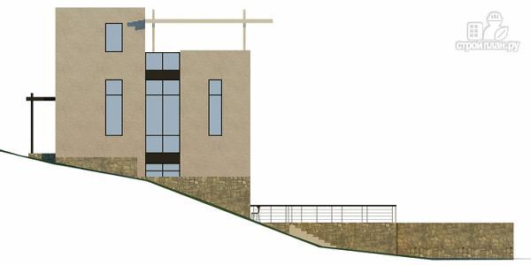 Фото 8: проект дом на склоне с двумя большими терассами