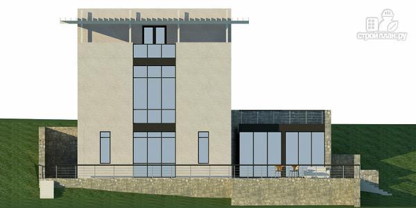 Фото 5: проект дом на склоне с двумя большими терассами