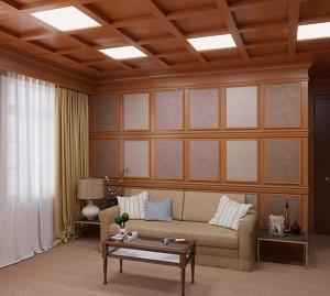 Подвесной кессонный потолок