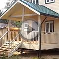 Видео Дачный дом 6х6 м с эркером 2х4 м и террасой